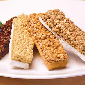 image of crispy variety bars from nuyou weight loss