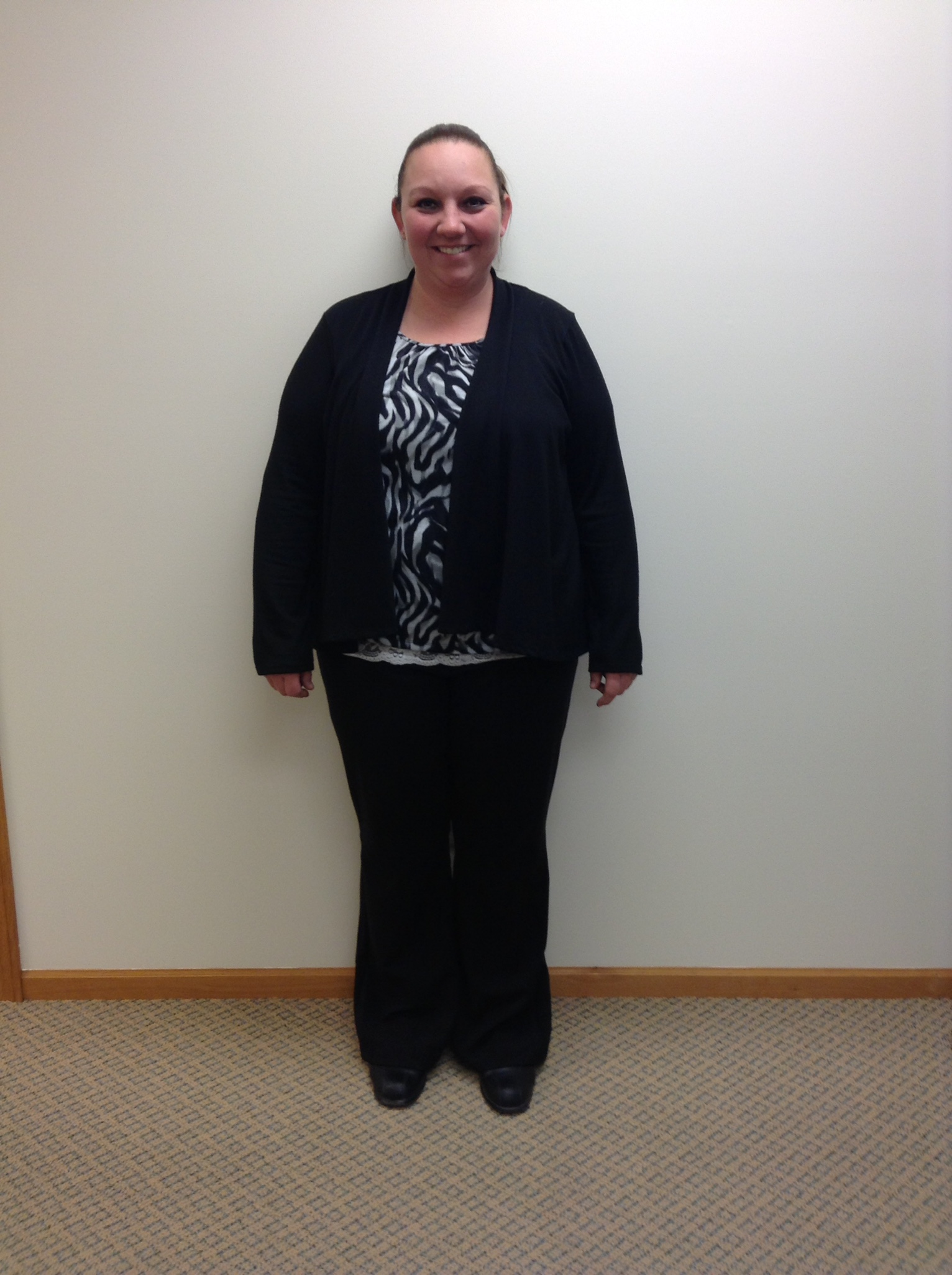 Heather S at the start of her NuYou Weight Loss program.