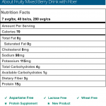 Fruity Mixed Berry Drink with Fiber Nutritional Information