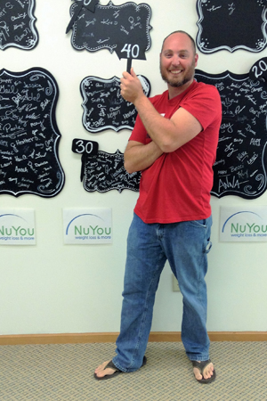 matt b 40 pounds gone board nuyou weight loss clinic transformation
