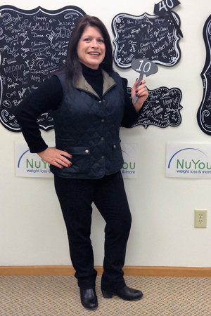 deb h nuyou weight loss clinic 10 pounds gone board photo