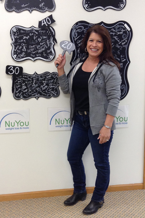 deb h nuyou weight loss clinic 20 pounds gone board photo