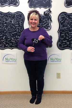 lois w nuyou weight loss clinic 10 pounds gone board