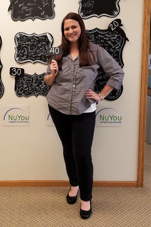 leah m nu you weight loss clinic 40 pounds gone board