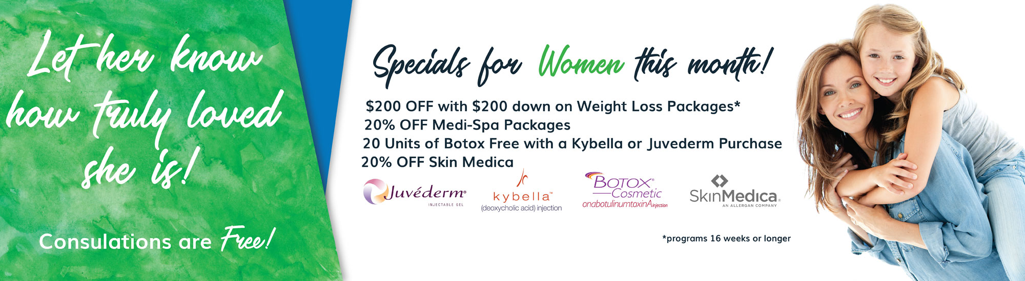 NuYou Weight Loss May is Mother's Day and Specials for Women 2018