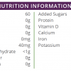 high protein orange single shot nutritional information