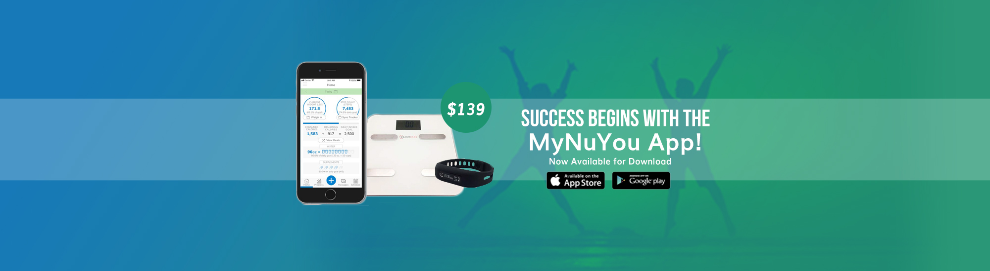 The MYNUYOU app has arrived! Works with a scale and fitbit to help you succeed with your weight loss journey.