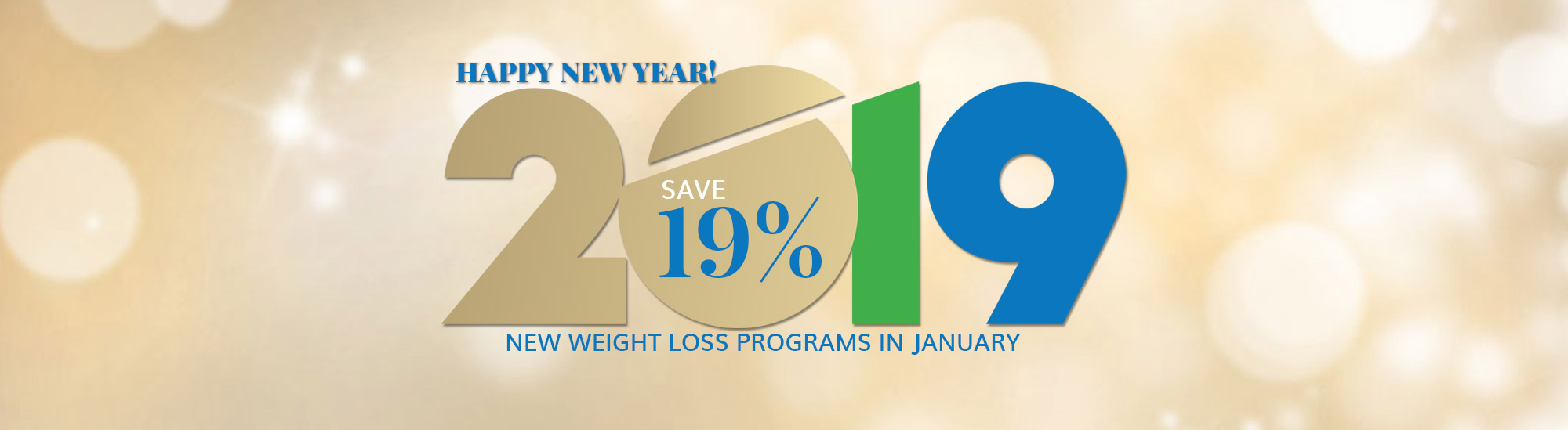 Call today to save 19% on New Weight Loss Programs in January 2019. Happy New Year at NuYou.